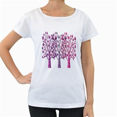 Magical pink trees Women s Loose-Fit T-Shirt (White)
