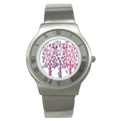 Magical pink trees Stainless Steel Watch