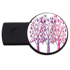 Magical pink trees USB Flash Drive Round (4 GB)