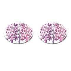 Magical pink trees Cufflinks (Oval)