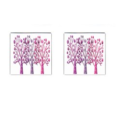 Magical pink trees Cufflinks (Square)