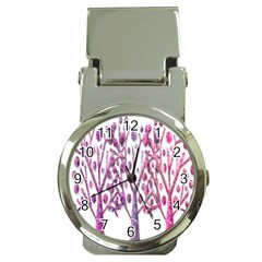 Magical pink trees Money Clip Watches