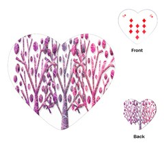 Magical pink trees Playing Cards (Heart)