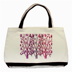 Magical pink trees Basic Tote Bag