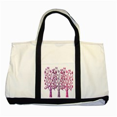 Magical pink trees Two Tone Tote Bag