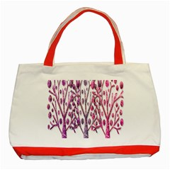 Magical pink trees Classic Tote Bag (Red)