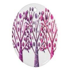 Magical pink trees Oval Ornament (Two Sides)