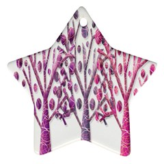 Magical pink trees Star Ornament (Two Sides)