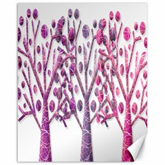 Magical pink trees Canvas 16  x 20