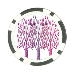 Magical pink trees Poker Chip Card Guards