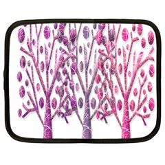 Magical pink trees Netbook Case (Large)