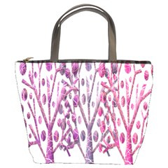 Magical pink trees Bucket Bags