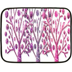 Magical pink trees Double Sided Fleece Blanket (Mini)