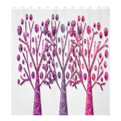 Magical pink trees Shower Curtain 66  x 72  (Large)