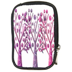Magical pink trees Compact Camera Cases
