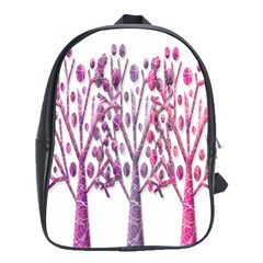 Magical pink trees School Bags(Large)