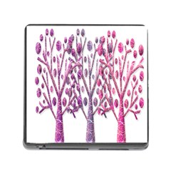 Magical pink trees Memory Card Reader (Square)