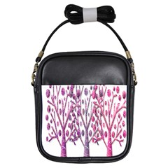 Magical pink trees Girls Sling Bags