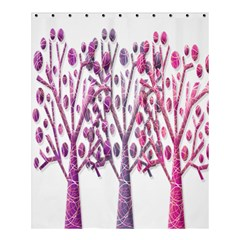 Magical pink trees Shower Curtain 60  x 72  (Medium)