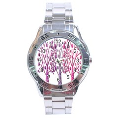 Magical pink trees Stainless Steel Analogue Watch