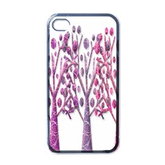 Magical pink trees Apple iPhone 4 Case (Black)