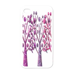 Magical pink trees Apple iPhone 4 Case (White)