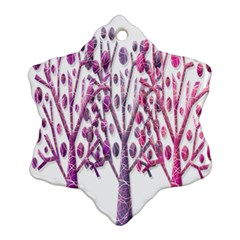 Magical pink trees Ornament (Snowflake)