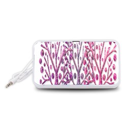 Magical pink trees Portable Speaker (White)