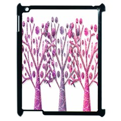 Magical pink trees Apple iPad 2 Case (Black)