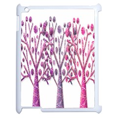 Magical pink trees Apple iPad 2 Case (White)