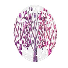 Magical pink trees Ornament (Oval Filigree)
