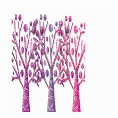 Magical pink trees Small Garden Flag (Two Sides)
