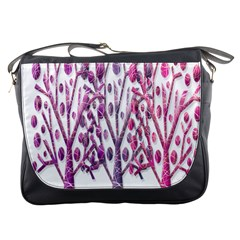 Magical pink trees Messenger Bags