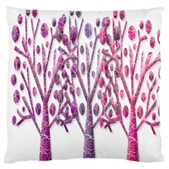 Magical pink trees Large Cushion Case (One Side)