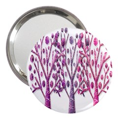 Magical pink trees 3  Handbag Mirrors