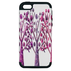 Magical pink trees Apple iPhone 5 Hardshell Case (PC+Silicone)