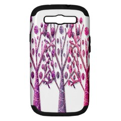 Magical pink trees Samsung Galaxy S III Hardshell Case (PC+Silicone)