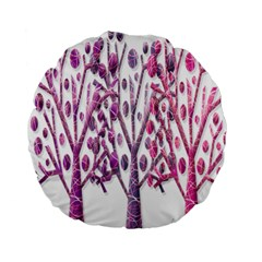 Magical pink trees Standard 15  Premium Round Cushions