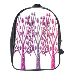 Magical pink trees School Bags (XL)