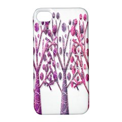 Magical pink trees Apple iPhone 4/4S Hardshell Case with Stand