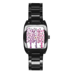 Magical pink trees Stainless Steel Barrel Watch