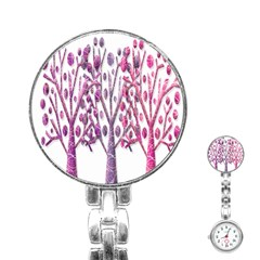 Magical pink trees Stainless Steel Nurses Watch