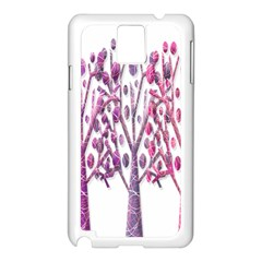 Magical pink trees Samsung Galaxy Note 3 N9005 Case (White)