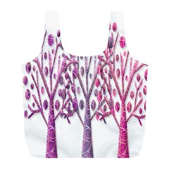 Magical pink trees Full Print Recycle Bags (L)