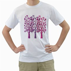 Magical pink trees Men s T-Shirt (White)
