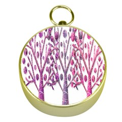 Magical pink trees Gold Compasses