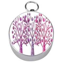 Magical pink trees Silver Compasses