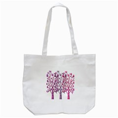 Magical pink trees Tote Bag (White)