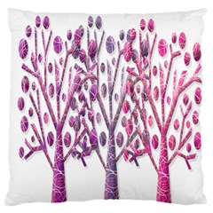 Magical pink trees Large Flano Cushion Case (Two Sides)