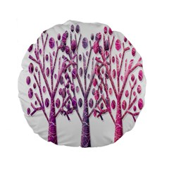 Magical pink trees Standard 15  Premium Flano Round Cushions